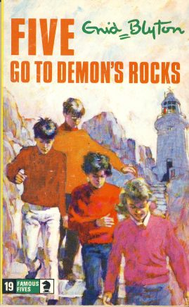 The Famous Five GO TO DEMON'S ROCKS 1976 Enid Blyton vintage paperback book Book number 19. Cover illustration by Betty Maxey KNIGHT paperback book pre-owned in very good used condition. Please see photos for details.