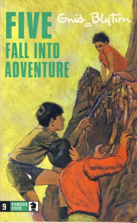 The Famous Five FALL INTO ADVENTURE 1978 Enid Blyton vintage paperback book Book number 9. Cover illustration by Betty Maxey KNIGHT paperback book pre-owned in very good used condition. Please see photos for details.