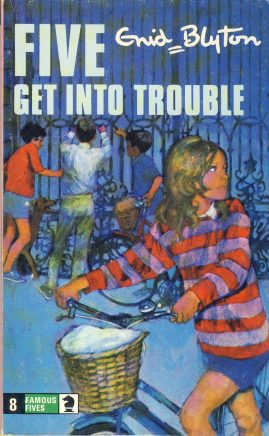 The Famous Five GET INTO TROUBLE 1976 Enid Blyton vintage paperback book Book number 8. Cover illustration by Betty Maxey KNIGHT paperback book pre-owned in very good used condition. Please see photos for details.