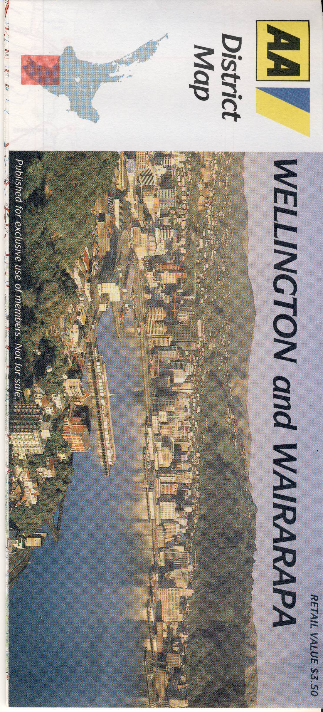New Zealand WELLINGTON WAIRARAPA vintage District map refS5 Advert on the outside fold for The COACHMAN MOTEL Palmerston North measures approx  20cm x  9cm folded - map on one side - other side is text - pre-owned in very good condition.