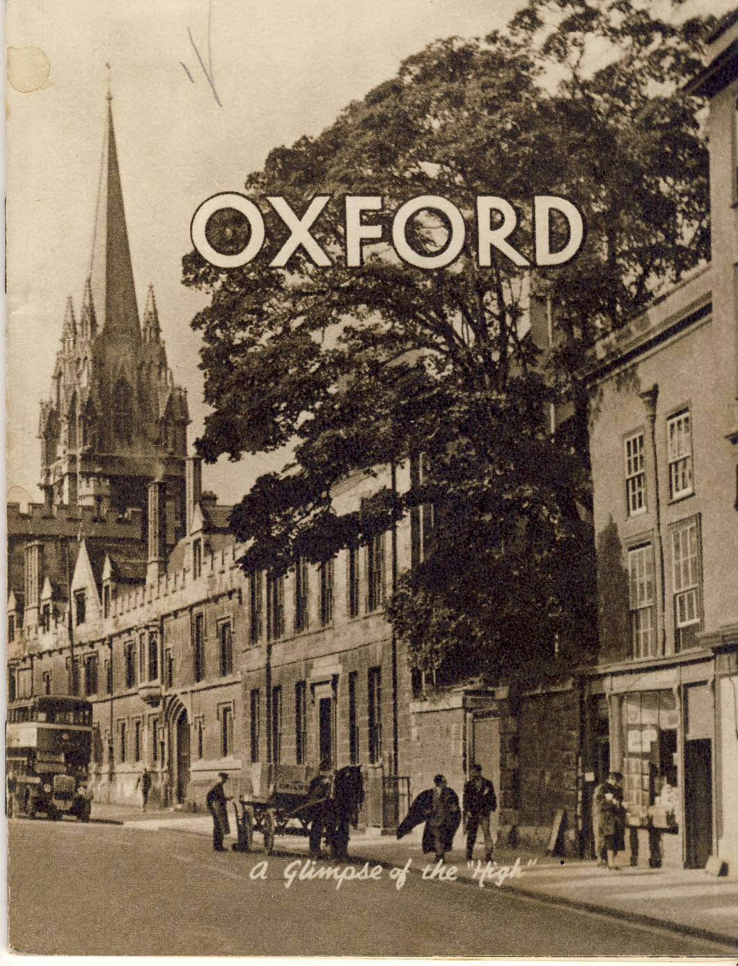 OXFORD Photchrom Midge View Book vintage 32 page mini-guide refS5 Described by Michael de Bock Porter. Copyright production by Photochrom Co Ltd