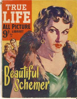Beautiful Schemer No.12 TRUE LIFE ALL PICTURE LIBRARY vintage magazine refS5  a pre-owned vintage item in well read poor condition. Picture of Jean Simmons 20th Century Fox inside back page.