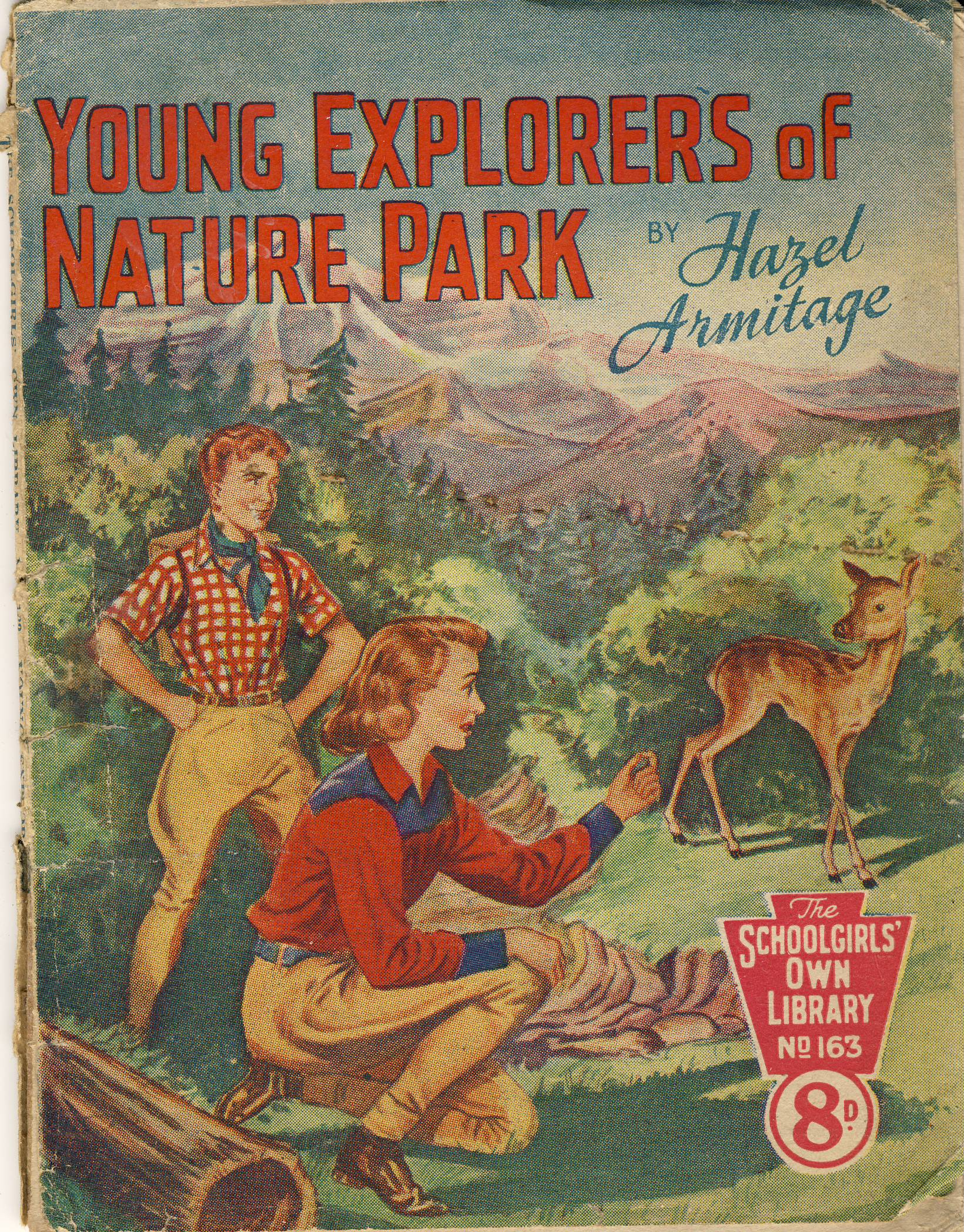 Young Explorers of Nature Park by Hazel Armitage SCHOOLGIRLS OWN LIBRARY No.163 vintage magazine refS5  a pre-owned vintage item in well read poor condition. Novelty bargains from ELLISDONS High Holborn London advert on back cover.