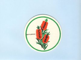 BOTTLEBRUSH Beer mat cardboard coaster vintage Australia souvenir refS5  a pre-owned vintage item in good condition