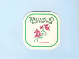 BOUGAINVILLEA The Top End Australian Beer mat cardboard coaster vintage souvenir refS5  a pre-owned vintage item in good condition