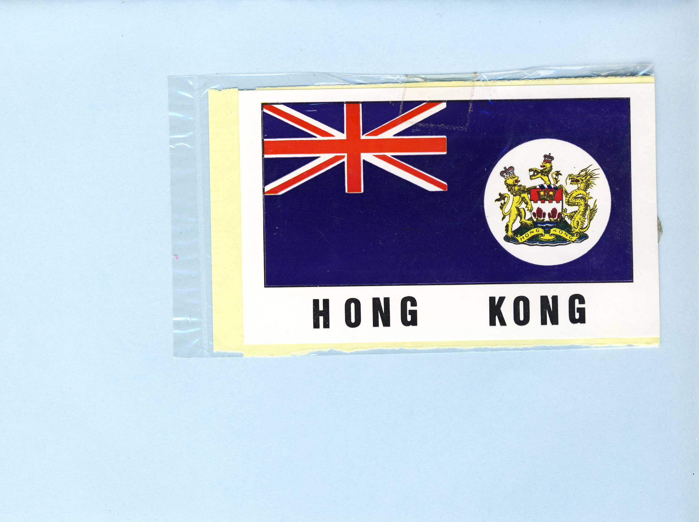 HONG KONG vintage souvenir Sticker refS5  a pre-owned vintage item in good condition. Measure approx. 7cm x 11cm - unopened.