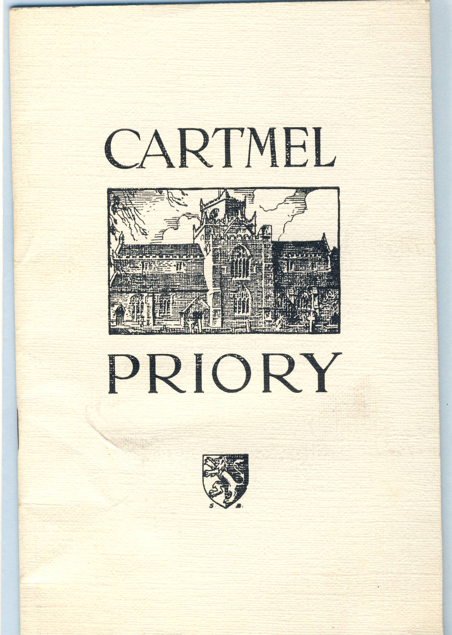 CARTMEL PRIORY tourist brochure 1/- shilling booklet refS5 About the Priory Church of St. Mary and St. Michael Cartmel by the Rev. L.G.F. Dykes and T. Hardwick. Measures approx 14cm x 21cm - 16 pages - a pre-owned vintage item in good condition for age. Illustrations by S. Buckley.