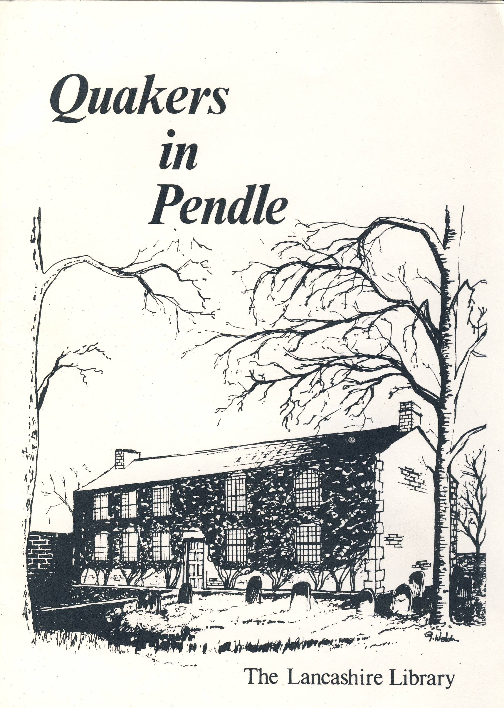 Quakers in Pendle by Edwin Alton Lancashire Library vintage 12 page booklet refS5 Measure approx 21cm x14cm -  a pre-owned vintage item in good condition.
