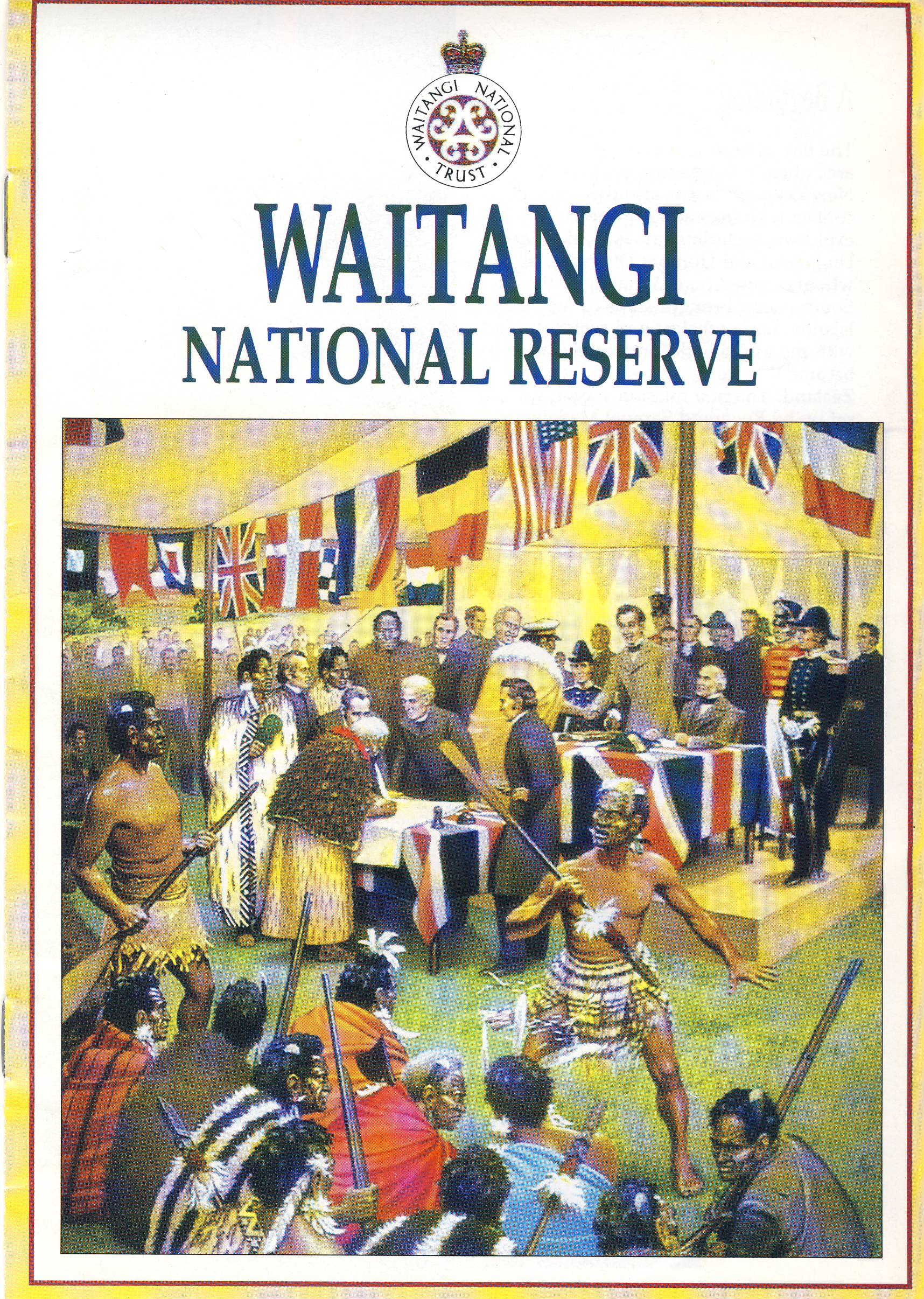 WAITANGI NATIONAL RESERVE vintage 8 page booklet refS5 a pre-owned vintage item in good condition. Measures approx 21cm x 15cm.