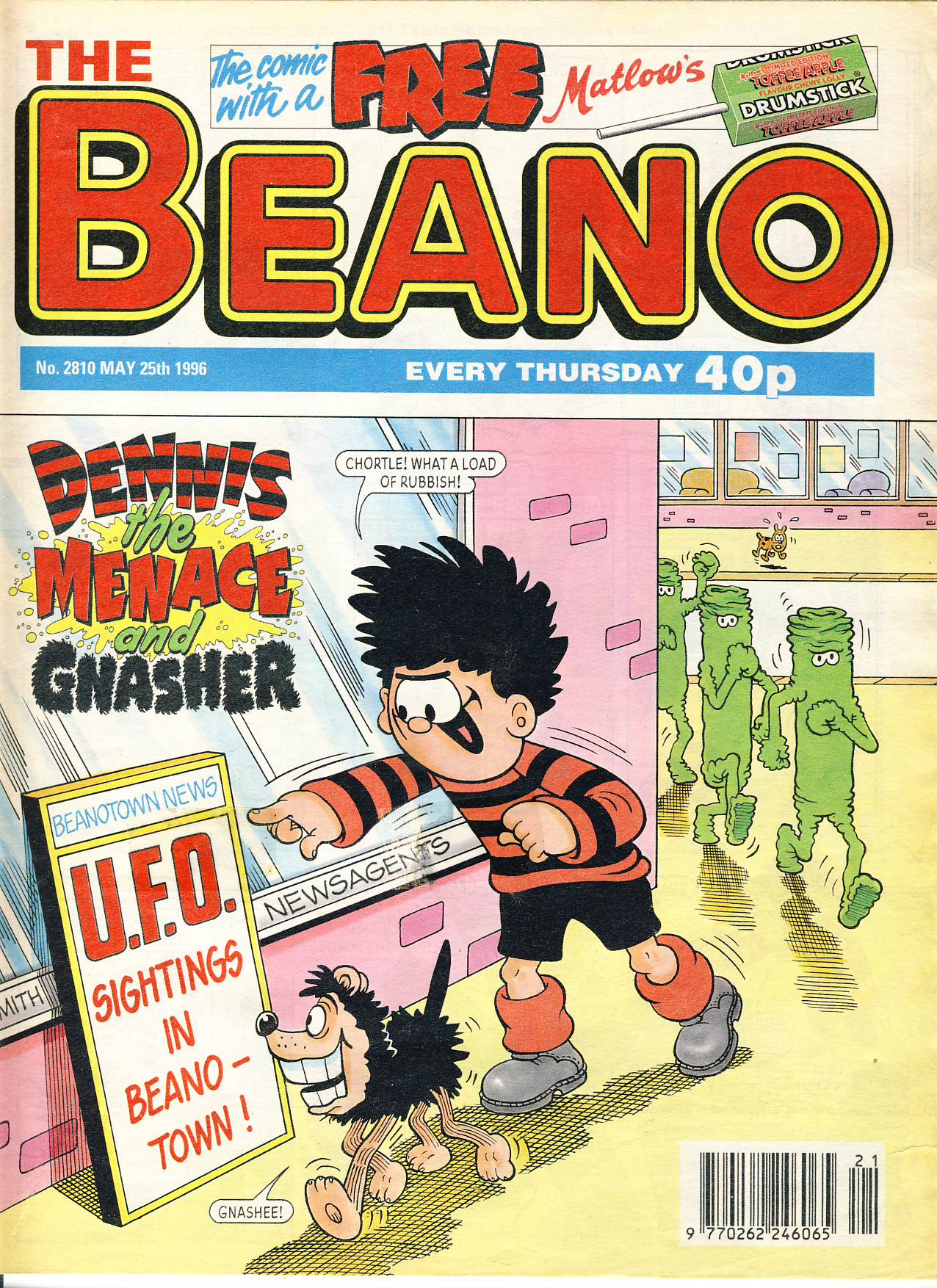 1996 May 25th BEANO vintage comic Good Gift Christmas Present Birthday Anniversary ref202 a pre-owned item in very good read condition.
