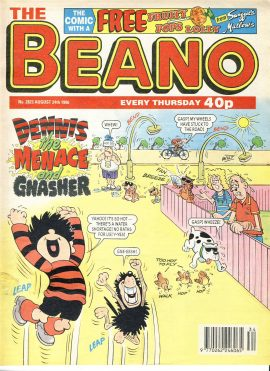1996 August 24th BEANO vintage comic Good Gift Christmas Present Birthday Anniversary ref204 a pre-owned item in very good read condition.