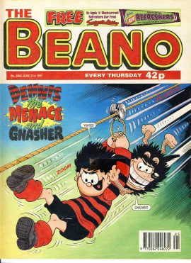 1997 June 21st BEANO vintage comic Good Gift Christmas Present Birthday Anniversary ref204a a pre-owned item in very good read condition.