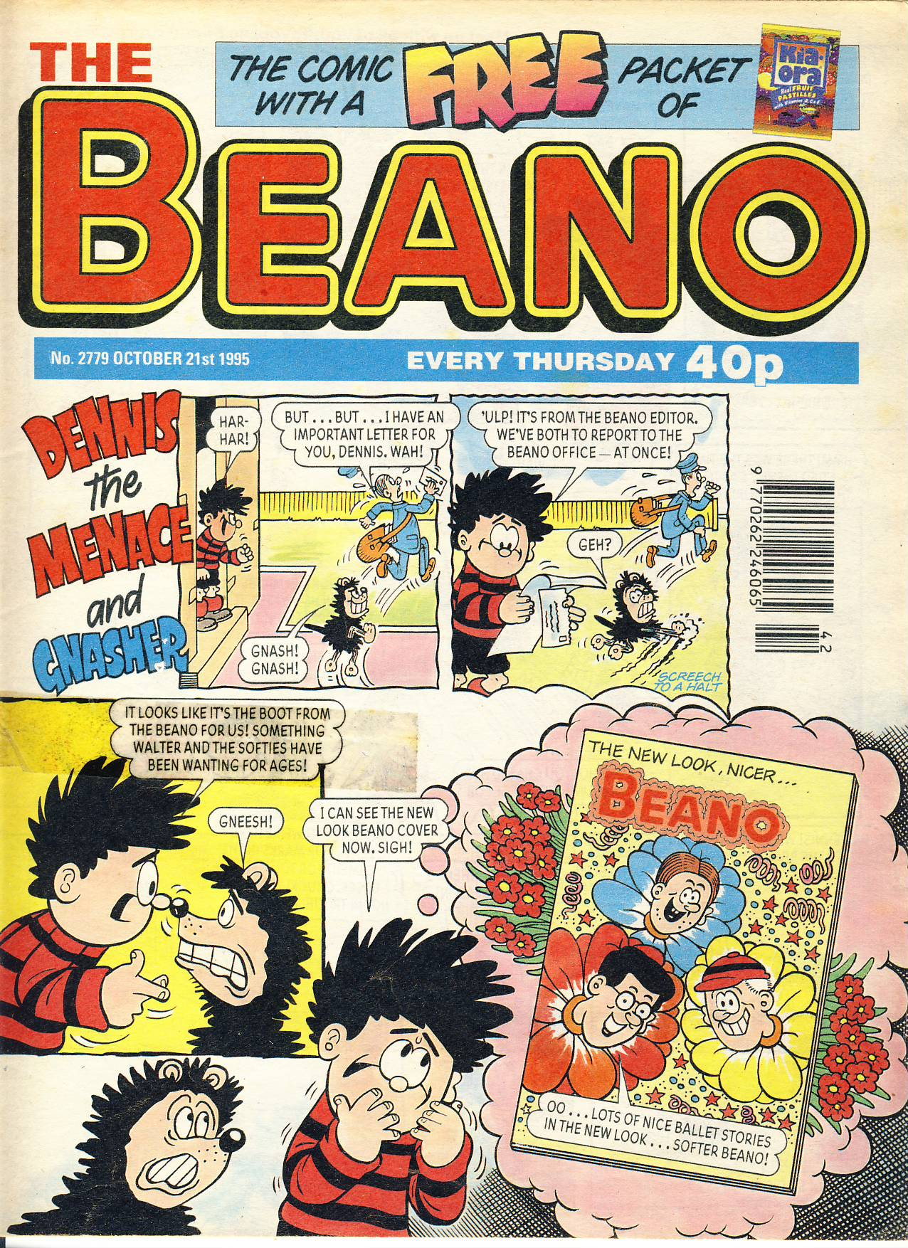 1995 October 21st BEANO vintage comic Good Gift Christmas Present Birthday Anniversary ref207 a pre-owned item in very good read condition.
