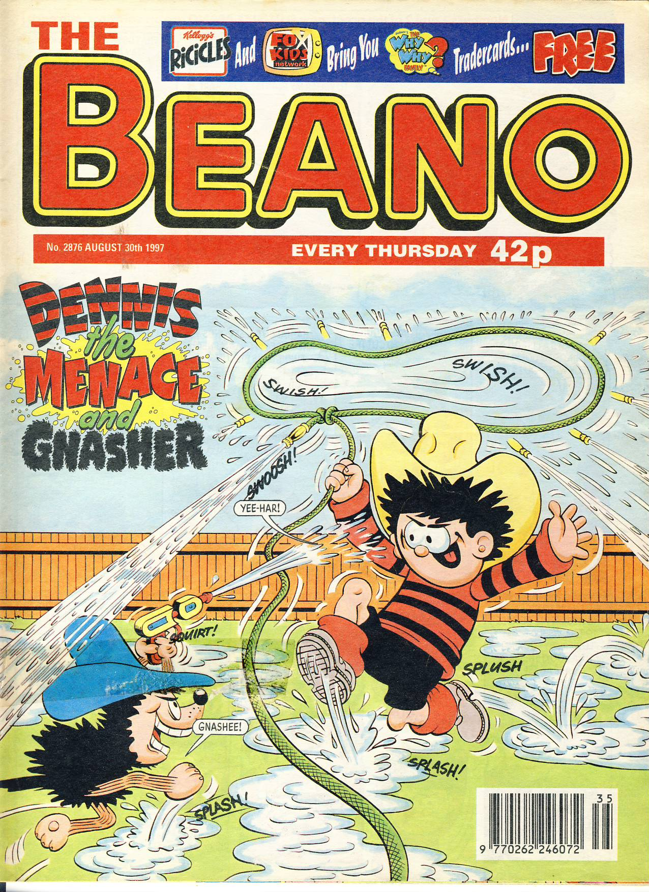 1997 August 30th BEANO vintage comic Good Gift Christmas Present Birthday Anniversary ref208 a pre-owned item in very good read condition.