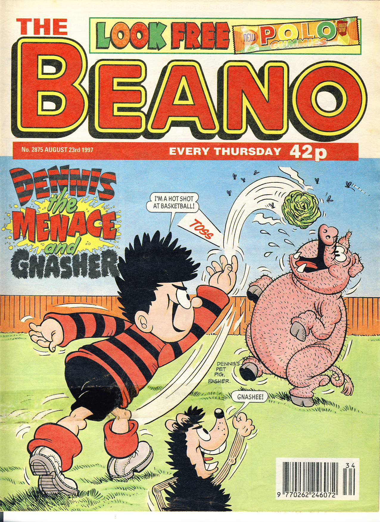 1997 August 23rd BEANO vintage comic Good Gift Christmas Present Birthday Anniversary ref209 a pre-owned item in very good read condition.