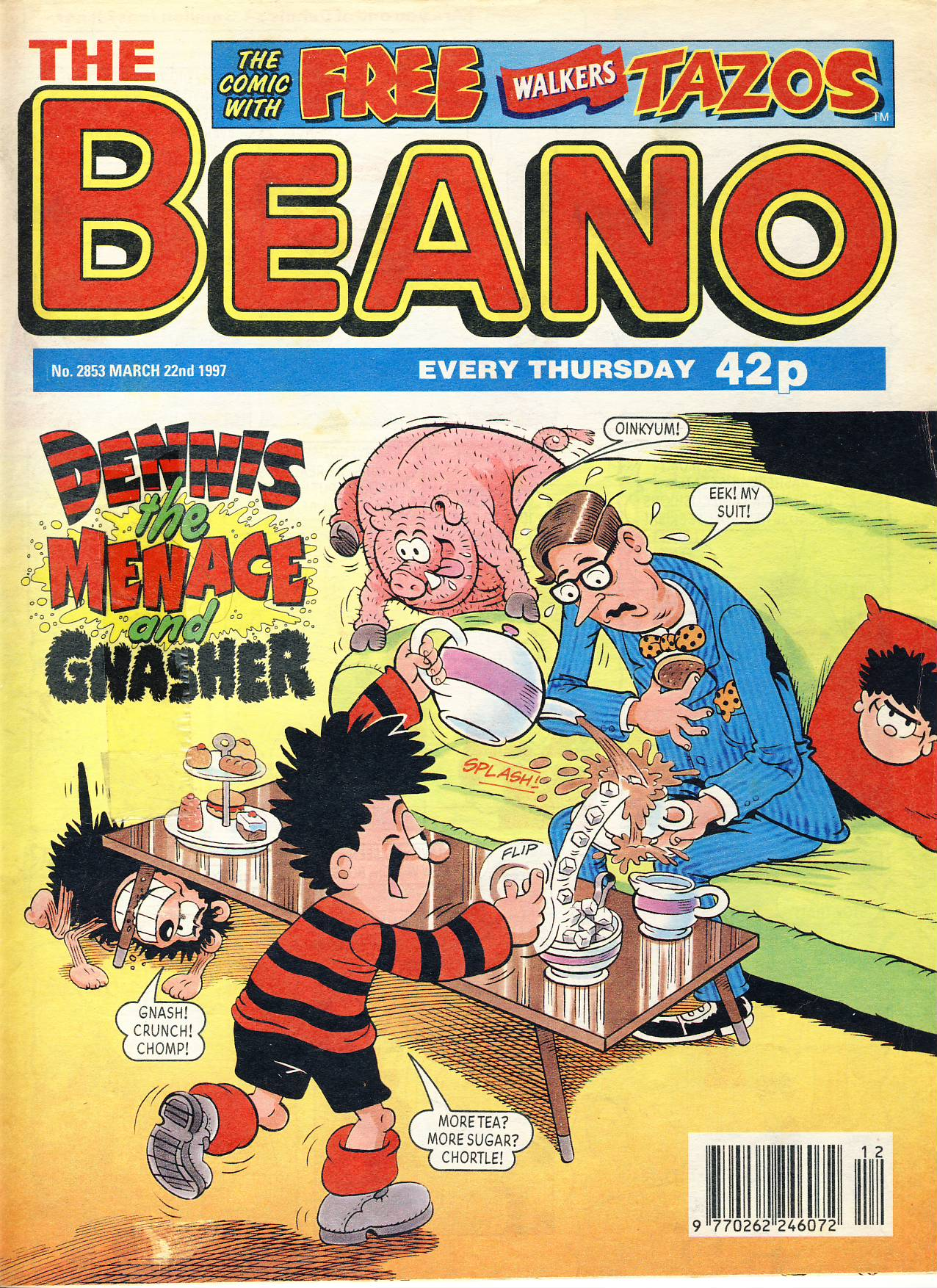 1997 March 22nd BEANO vintage comic Good Gift Christmas Present Birthday Anniversary ref211 a pre-owned item in very good read condition.