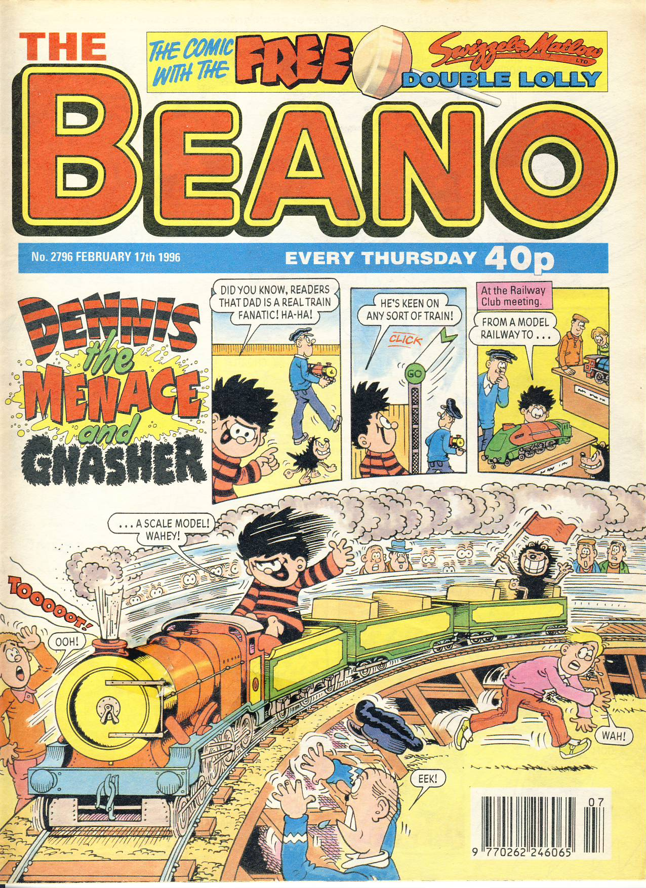 1996 February 17th BEANO vintage comic Good Gift Christmas Present Birthday Anniversary ref212 a pre-owned item in very good read condition.