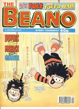 1996 March 23rd BEANO vintage comic Good Gift Christmas Present Birthday Anniversary ref213 a pre-owned item in very good read condition.