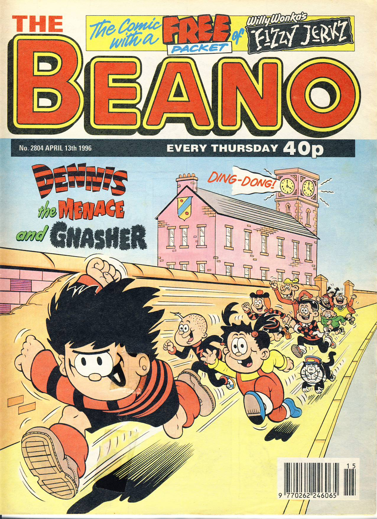 1996 April 13th BEANO vintage comic Good Gift Christmas Present Birthday Anniversary ref214 a pre-owned item in very good read condition.