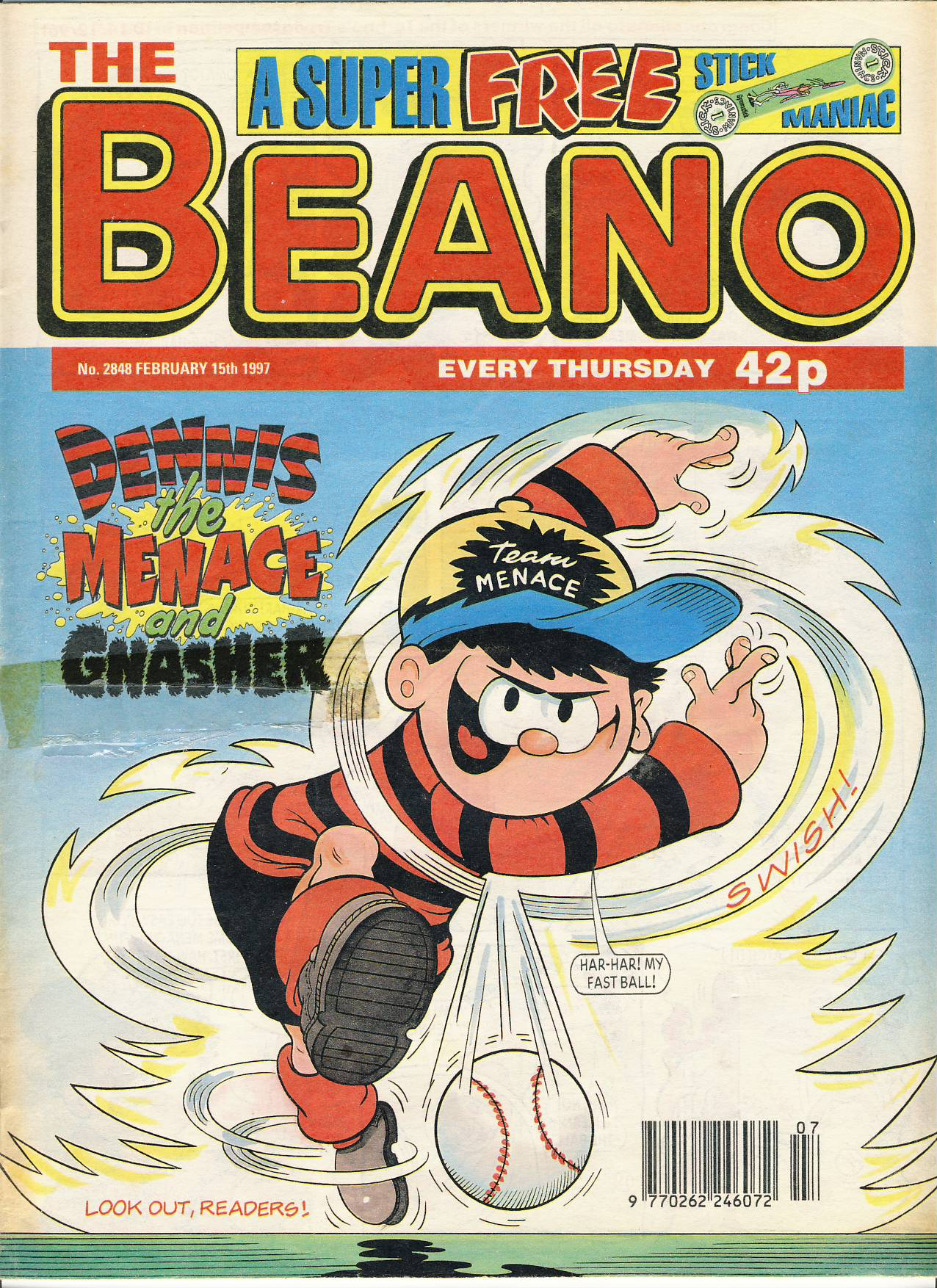 1997 February 15th BEANO vintage comic Good Gift Christmas Present Birthday Anniversary ref215 a pre-owned item in very good read condition.