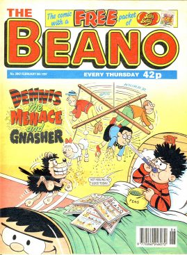 1997 February 8th BEANO vintage comic Good Gift Christmas Present Birthday Anniversary ref217 a pre-owned item in very good read condition.