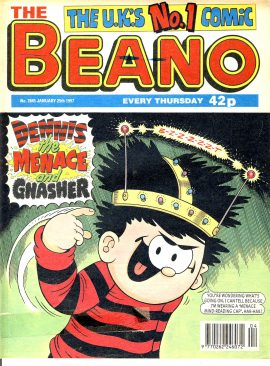 1997 January 25th BEANO vintage comic Good Gift Christmas Present Birthday Anniversary ref219 a pre-owned item in very good read condition.