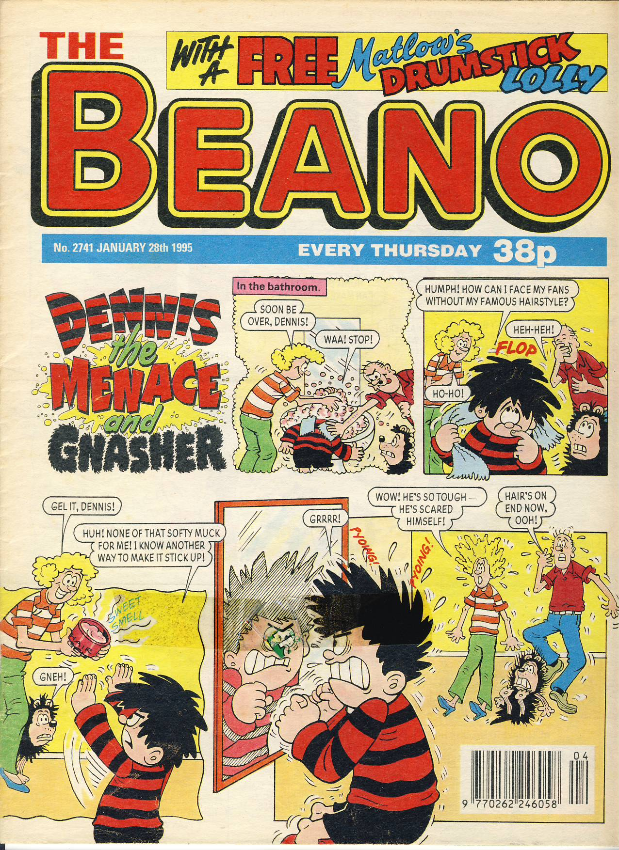 1995 January 28th BEANO vintage comic Good Gift Christmas Present Birthday Anniversary ref220 a pre-owned item in very good read condition.