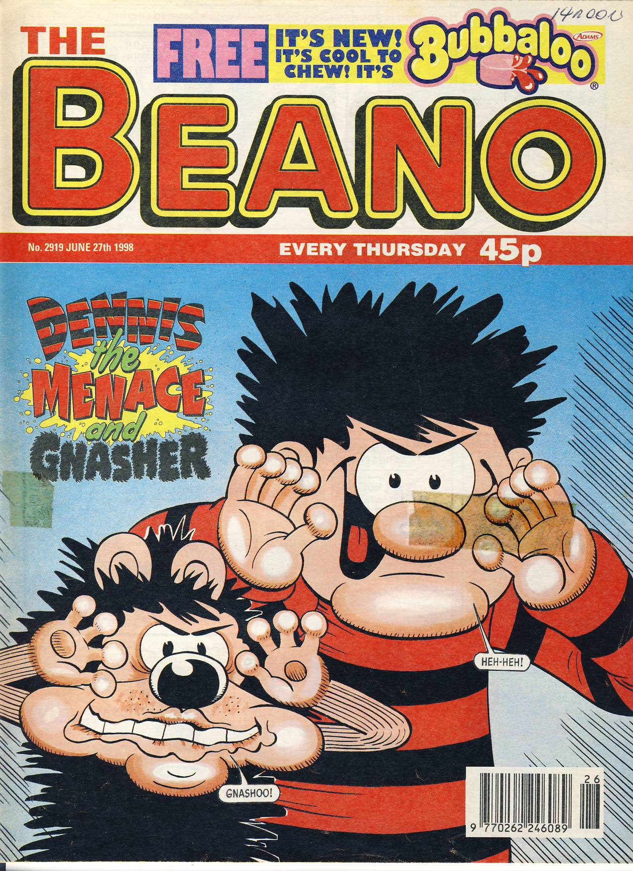1998 June 27th BEANO vintage comic Good Gift Christmas Present Birthday Anniversary ref224 a pre-owned item in very good read condition.