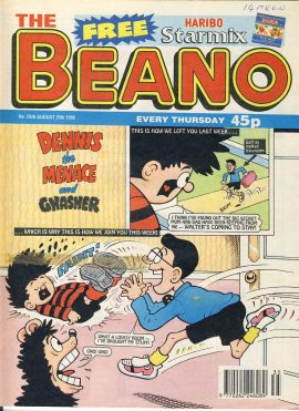 1998 August 29th BEANO vintage comic Good Gift Christmas Present Birthday Anniversary ref226 a pre-owned item in very good read condition.