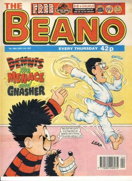 1997 June 14th BEANO vintage comic Good Gift Christmas Present Birthday Anniversary ref229 a pre-owned item in very good read condition.
