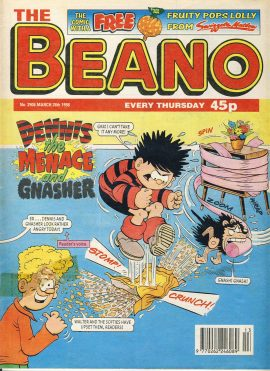 1998 March 28th BEANO vintage comic Good Gift Christmas Present Birthday Anniversary ref230 a pre-owned item in very good read condition.