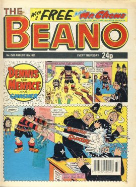 1990 August 18th BEANO vintage comic Good Gift Christmas Present Birthday Anniversary ref232 a pre-owned item in very good read condition.