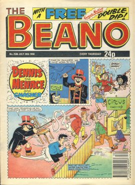 1990 July 28th BEANO vintage comic Good Gift Christmas Present Birthday Anniversary ref233 a pre-owned item in very good read condition.