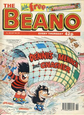 1997 May 10th BEANO vintage comic Good Gift Christmas Present Birthday Anniversary ref237 a pre-owned item in very good read condition.