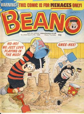 1999 March 27th BEANO vintage comic Good Gift Christmas Present Birthday Anniversary ref239 a pre-owned item in very good read condition.