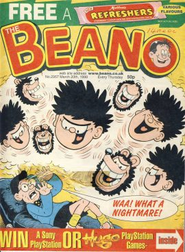 1999 March 20th BEANO vintage comic Good Gift Christmas Present Birthday Anniversary ref240 a pre-owned item in very good read condition.
