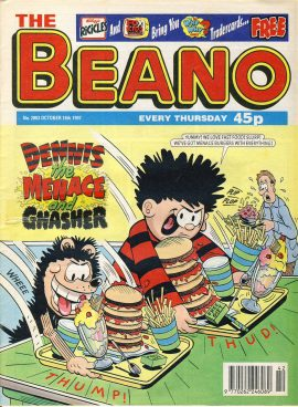 1997 October 18th BEANO vintage comic Good Gift Christmas Present Birthday Anniversary ref244 a pre-owned item in very good read condition.