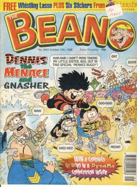 1998 October 10th BEANO vintage comic Good Gift Christmas Present Birthday Anniversary ref246 a pre-owned item in very good read condition.