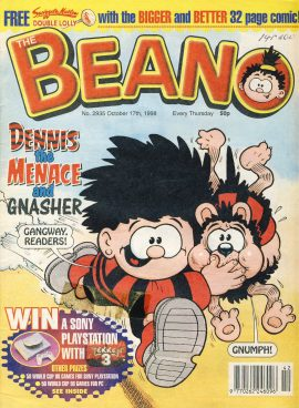 1998 October 17th BEANO vintage comic Good Gift Christmas Present Birthday Anniversary ref247 a pre-owned item in very good read condition.