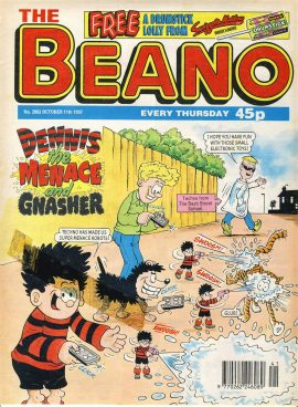 1997 October 11th BEANO vintage comic Good Gift Christmas Present Birthday Anniversary ref249 a pre-owned item in very good read condition.
