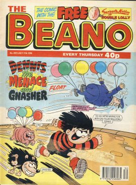 1996 July 27th BEANO vintage comic Good Gift Christmas Present Birthday Anniversary ref250 a pre-owned item in very good read condition.
