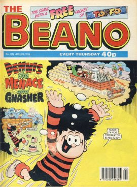 1996 June 8th BEANO vintage comic Good Gift Christmas Present Birthday Anniversary ref252 a pre-owned item in very good read condition.