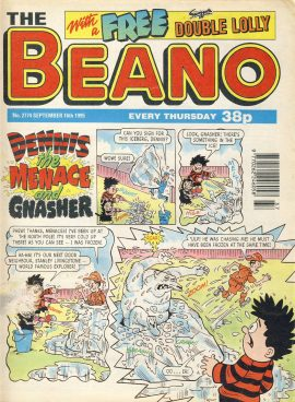 1995 September 16th BEANO vintage comic Good Gift Christmas Present Birthday Anniversary ref255 a pre-owned item in very good read condition.