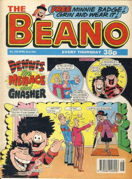 1995 April 22nd BEANO vintage comic Good Gift Christmas Present Birthday Anniversary ref257 a pre-owned item in very good read condition.