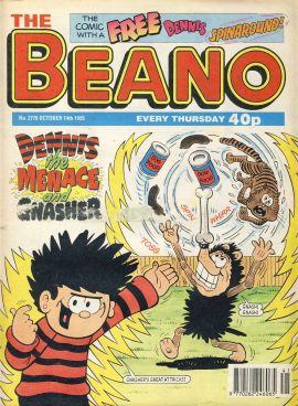 1995 October 14th BEANO vintage comic Good Gift Christmas Present Birthday Anniversary ref258 a pre-owned item in very good read condition.