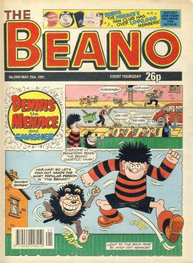 1991 May 25th BEANO vintage comic Good Gift Christmas Present Birthday Anniversary ref259 a pre-owned item in very good read condition.