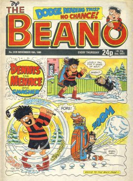 1989 November 18th BEANO vintage comic Good Gift Christmas Present Birthday Anniversary ref261 a pre-owned item in very good read condition.