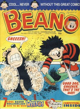 1999 February 20th BEANO vintage comic Good Gift Christmas Present Birthday Anniversary ref262 a pre-owned item in very good read condition.