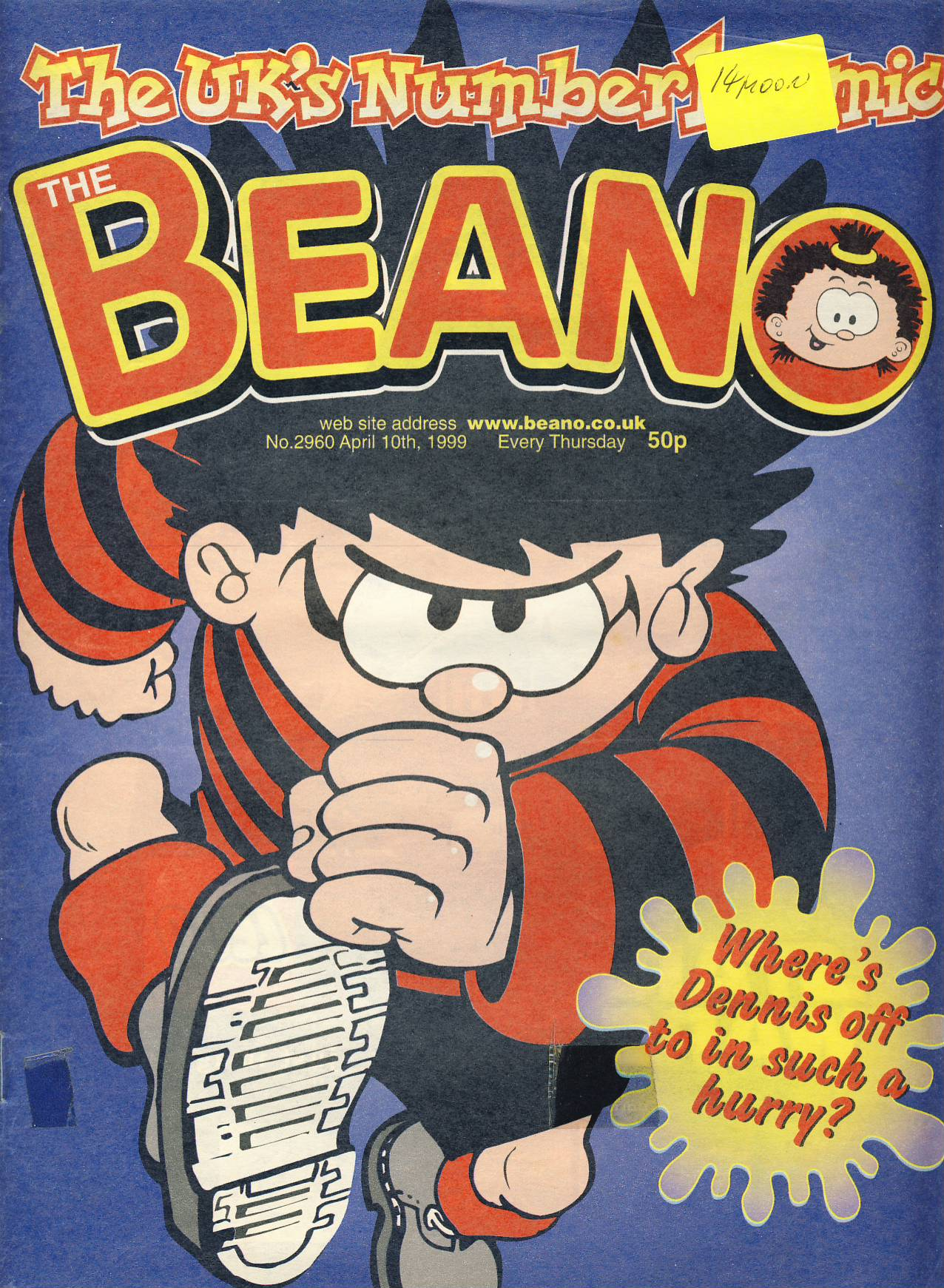 1999 April 10th BEANO vintage comic Good Gift Christmas Present Birthday Anniversary ref263 a pre-owned item in very good read condition.