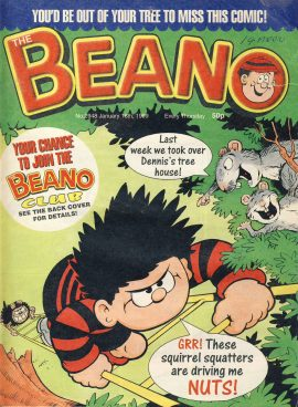 1999 January 16th BEANO vintage comic Good Gift Christmas Present Birthday Anniversary ref264 a pre-owned item in very good read condition.